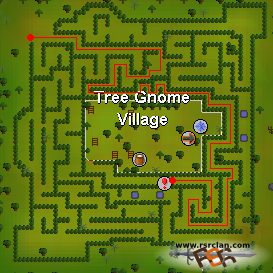 how to get to tree gnome village osrs